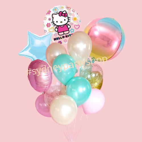 Hello Kitty Themed balloon bouquet
