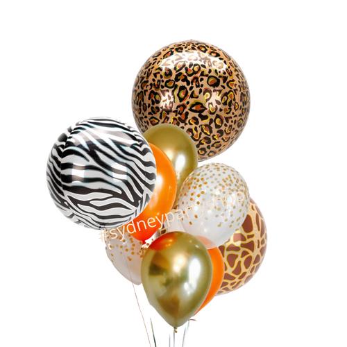 Jungle Safari orbz balloon bouquet
