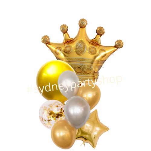 Royal Crown Gold balloon bouquet