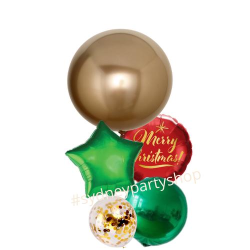 Merry Christmas Jumbo balloon bouquet