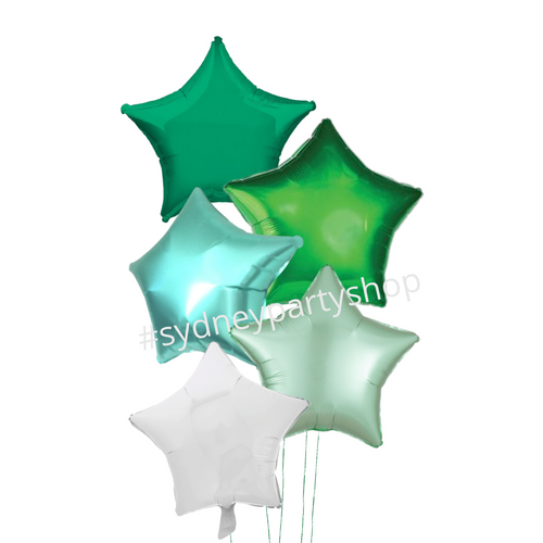 Green spark balloon bouquet