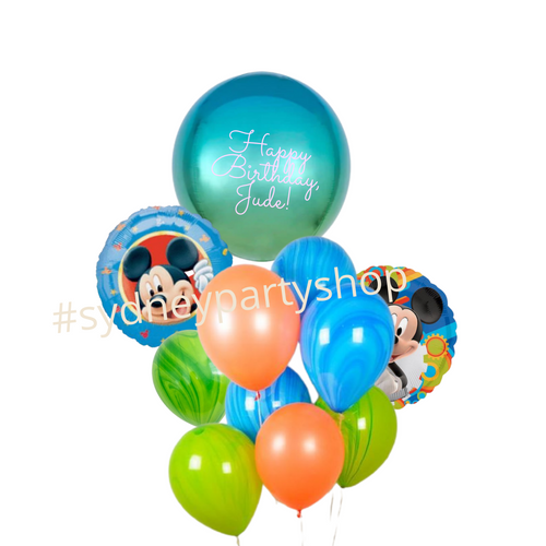 Mickey Mouse Club house marble balloon bouquet