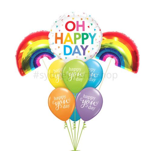 Happy Day Rainbow Balloon bouquet
