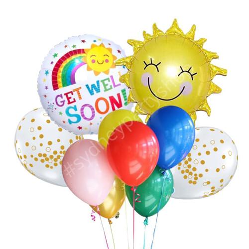 Be well, Sunshine Balloon bouquet