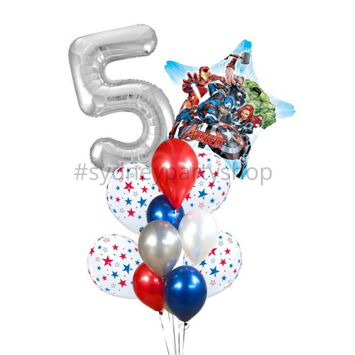 Marvel Balloon bouquet with number