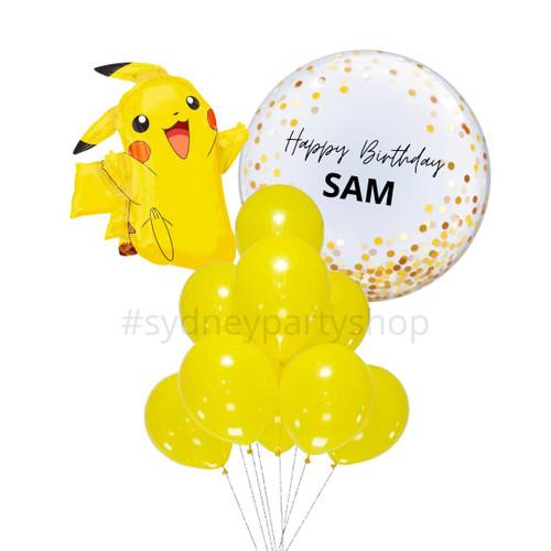 Personalized Pikachu Balloon bouquet