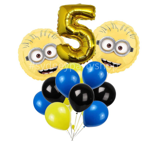 Licensed the Minions Balloon bouquet with number