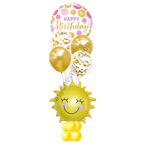 Sunshine birthday marquee balloon