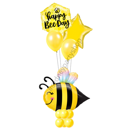 Happy Bee day marquee balloons