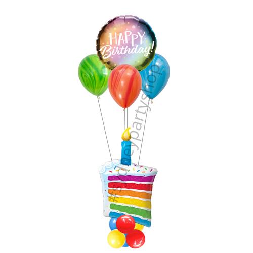 Birthday cake marquee balloon
