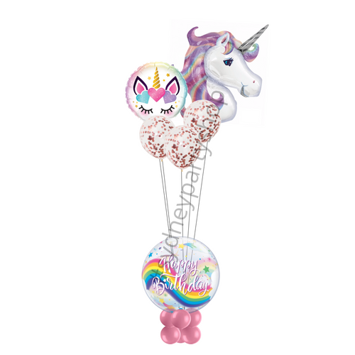 Unicorn birthday marquee balloon