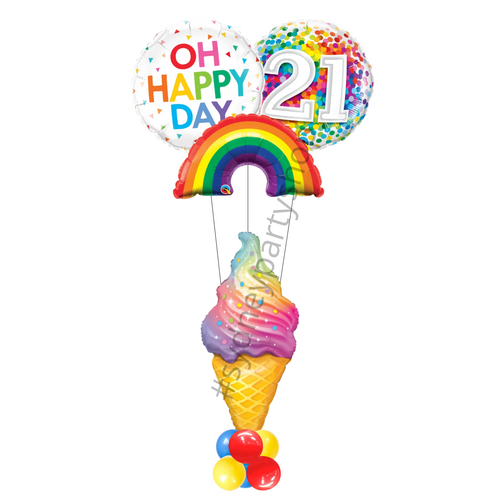 Colorful  Summer themed birthday balloon