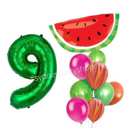 Watermelon balloon bouquet set