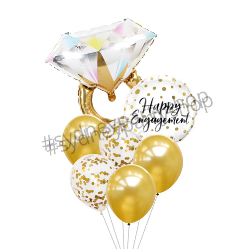 Happy engagement day balloon bouquet