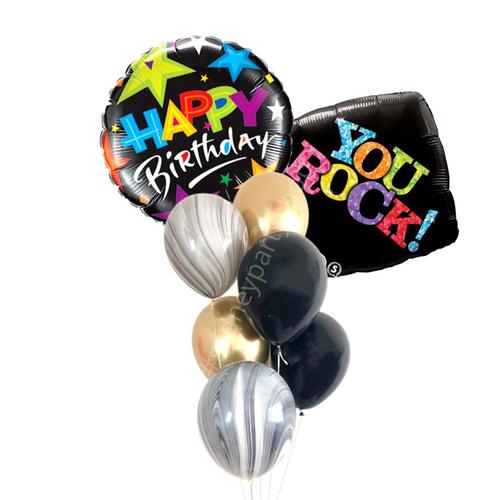 Birthday You Rock balloon bouquet