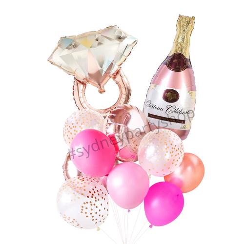 Engagement & wine balloon bouquet