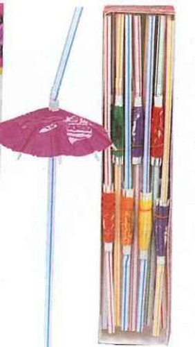 LUAU UMBRELLA STRAWS BOX 25