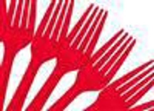 CUTLERY RED FORK P25