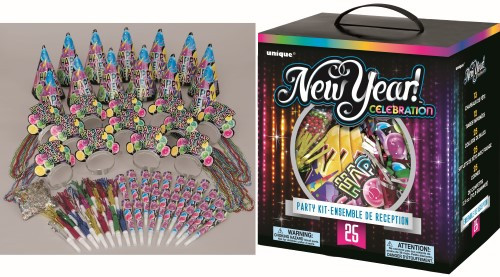 NEW YEAR CELEBRATE PARTY KIT FOR 25
