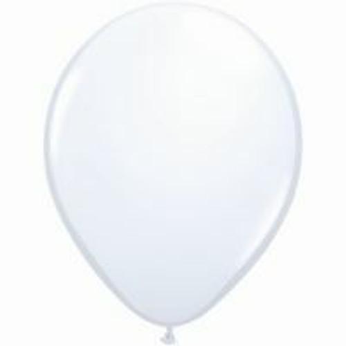 12cm Standard White Latex Balloon - Pack of 100