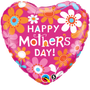 "FOIL 18"" MOTHERS DAY CONTEMPO DAISIES"
