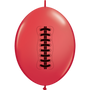 "QUICK LINK 50/12"" RED FOOTBALL"