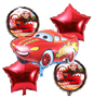 Cars Balloons Foil Bouquet inflated