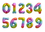 Rainbow Number 7 Seven Foil Balloon