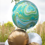 Marble Orb Balloon Bouquet
