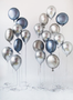 Loose chrome and foil balloons