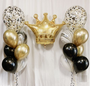 Crown balloon bouquet combo