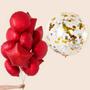 Foils bouquet and Jumbo Confetti combo