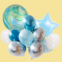 Mix Marble Orbs balloon bouquet