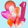 Pink and Orange Balloon bouquet