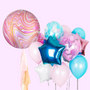 Marble Orbs tassel and balloon bouquet bundle