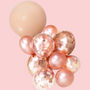 Peach and rose gold balloon bouquet