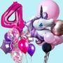 Giant unicorn balloon bouquet bundle