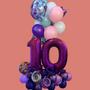 Purple shades birthday gift balloon bouquet
