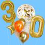 Jumbo balloon bouquet with numbers