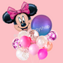 Licensed Minnie Mouse balloon bouquet with orbz