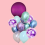 Purple Ombre balloon bouquet