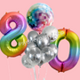 Disco and Rainbow balloon bouquet bundle