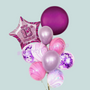 18th marble & orbz birthday balloon bouquet