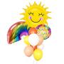 Get well soon rainbow & sun balloons