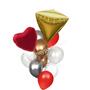 Diamond and heart balloon bouquet