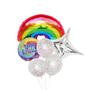 Rainbow confetti birthday balloons
