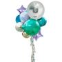 Jumbo gift balloon bouquet with curtain tassel