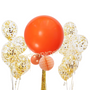 Jumbo Orange and confetti balloon set