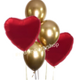 Gold and Red balloon bouquet
