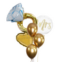 Engagement Ring golden balloon bouquet